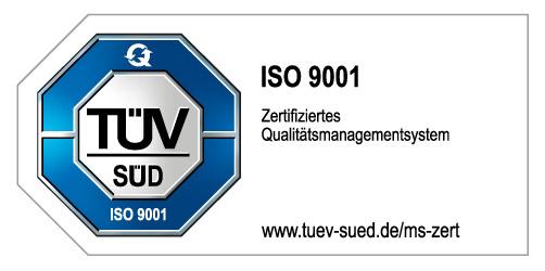 ISO 9001: 2015 TÜV Zertifikat